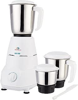 Bajaj Rex 500-Watt Mixer Grinder with 3 Jars (White)