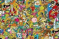 クラシック2000ピースパズル-カラフルな漫画の動物の風景アートワークアート教育ギフト家の装飾大きなジグソーパズル
