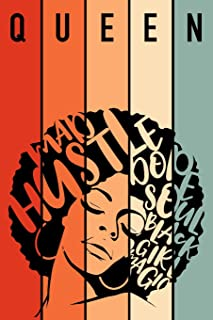 Queen Mad Hustle Dope Soul Black Girl Magic: 6 x 9 Journal with 125 pages perfect for any Black Girl Diva, Melanin Girl, nice gift for Girl