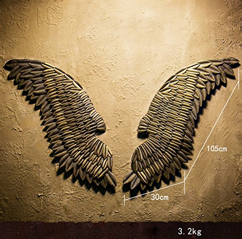 QBZS-YJ Loft Industrial Vintage Large Wings Wall Hanging Art Decoration Ornament Creative Wall Decoration For Bar Coffee Shop (Color : 1)