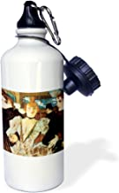 3dRose wb_130182_1 La Goulue Arriving at The Moulin Rouge with Two Women By Henri De Toulouse-Lautrec Sports Water Bottle, 21 oz, White