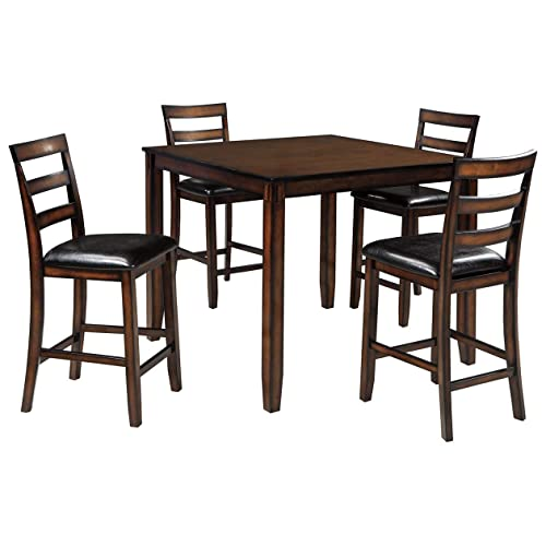 80a87b24cbec8 Ashley Furniture Signature Design - Coviar Counter Height Dining Room Table  and Bar Stools (Set