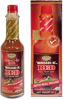 Wasabi-O, Red Chilli Wasabi Hot Sauce or Red Wasabi Sauce 55 g (2.19 Oz.) uses Real Wasabi - Dipping with Sushi, Salmon, S...