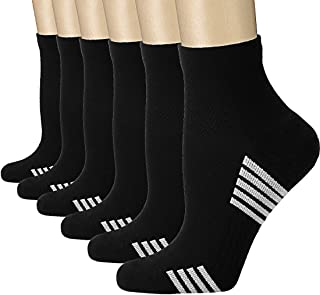 Compression Socks Women and Men, Ankle Compression Socks, Running socks (6/7 Pairs),Arch Support Flight Travel Nurses