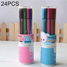 JUNNA Random Colour Delivery, 24 PCS / (2 Ready) 12 Colours Children Painting Non-toxic Washable Watercolor Pen Students Stationery Office Stationery