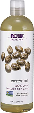 NOW Solutions, Castor Oil, 100% Pure Versatile Skin Care, Multi-Purpose Skin Softener, 16-Ounce