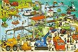 Poster 60 x 40 cm: Baustelle Kieswerk von Wimmelbuchverlag