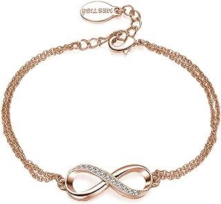 Mestige Rose Gold Infinitely Yours Bracelet with Swarovski® Crystals, Gift Love