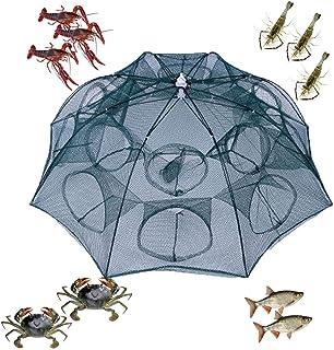 Foldable Crab Fishpot Crawdad Shrimp Minnow Fishing Bait Trap Cast Dip Net Cage