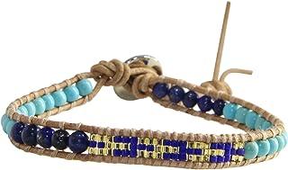 KELITCH لازورد ميو الخرز سوار للنساء الرجال الصداقة اليدوية قابل للتعديل حبل الإسورة الأزياء والمجوهرات