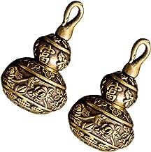 IMIKEYA 2pcs Brass Good Luck Wu Lou Hu Lu Gourd Keychain Vintage Chinese Feng Shui Figurine Good Luck Ornament 2021 Chines...