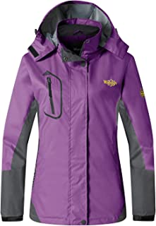 Wantdo Women's Hooded Outerwear Waterproof Windproof Windbreaker Jacket