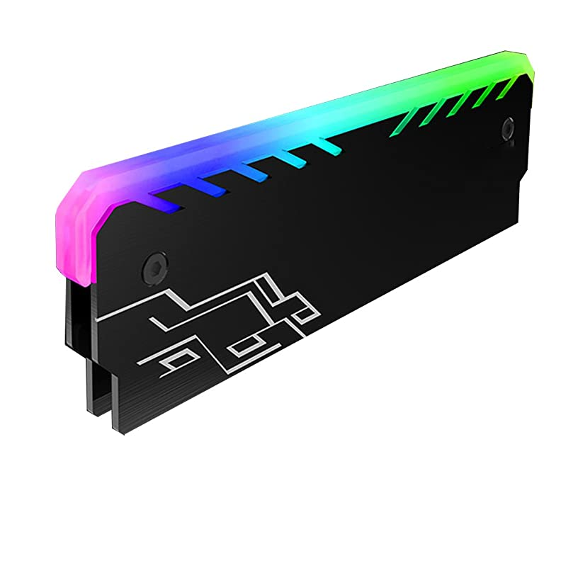 Focussexy Memory Cooling Vest RAM Cooler Heat Sink PC 256 Color RGB Light Effect