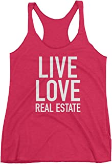 Get Thread Live Love Real Estate - Estate Agent Slogan Womens Racerback Tank Top