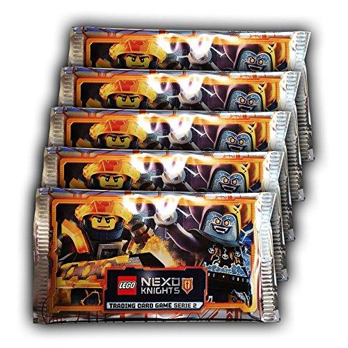 Nexo Knights Blue Ocean - LEGO Serie 2 Sammelkarten - 5 Booster Packungen (25 Karten)