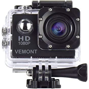 Vemont Action Camera 1080P 12MP Sports Camera Full HD 2.0 Inch Action Cam 30m/98ft Underwater Waterproof Snorkel surf Camera with Wide-Angle Lens and Mounting Accessories Kit (KH-9D91-CAOT)