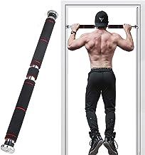 Trek Bars Deurframe, Deuropening Chin up Bar, met Comfortabele Grip Schuim, 400 lbs Maximaal gewicht, Fitness Oefenapparat...