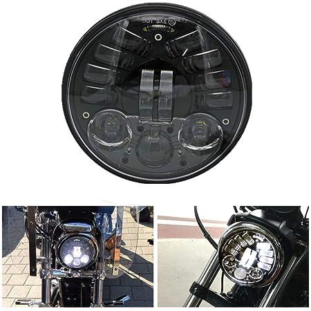 Für Harley Sport Motorrad Adaptive Led Scheinwerfer 5 3 4 Zoll Modell Adaptive 5 75 Round Motorrad Led Scheinwerfer Auto