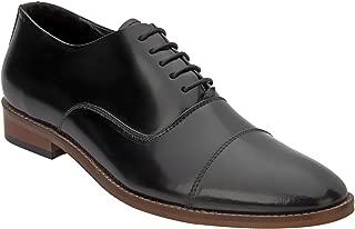 Heels & Shoes Men Black Genuine Leather Oxford Lace Up Shoe