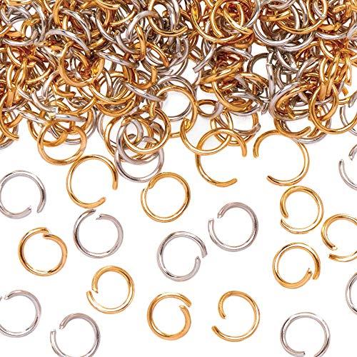 Baker Ross AT150 goud & zilver vergulde springringen, kunst en ambachten voor kinderen (pak van 200), goud & zilver
