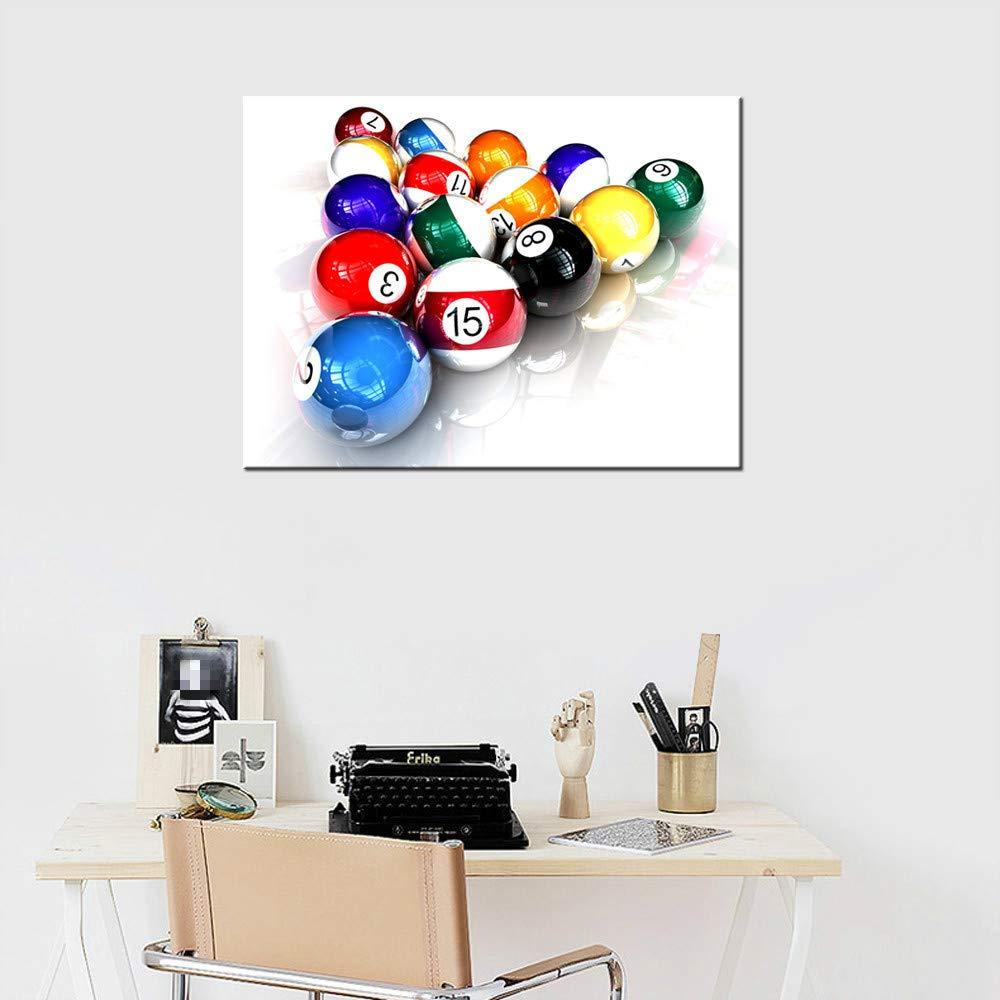 Billar deporte lienzo pintura mural sala decoración pintura sin ...