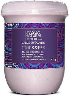 Creme Esfoliante Mãos e Pés, D'agua Natural, 650 g