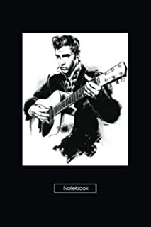 """NOTEBOOK: Elvis Presley / Journal for Writing / College Ruled Size 6"""" x 9""""Inches / 120 Pages Paperback, Matte Finish Cover..."""