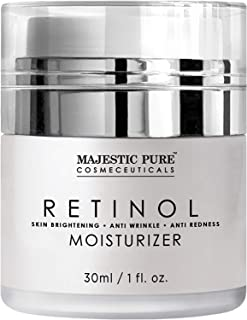 Majestic Pure Retinol Moisturizer Cream for Face and Eye Area - Night Cream - Reduces the Appearance of Wrinkles, Fine Lines - 1 fl. oz.