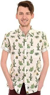 Hombre Años 70 Años 80 Retro Indie Cactus Camisa Manga Corta
