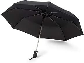 GadHome Ombrello nero automatico | Ombrello da viaggio portatile compatto da 29 cm antivento per uomo, donna | Ombrello pieghevole automatico One Touch, ombrello automatico uomo, 1 pz