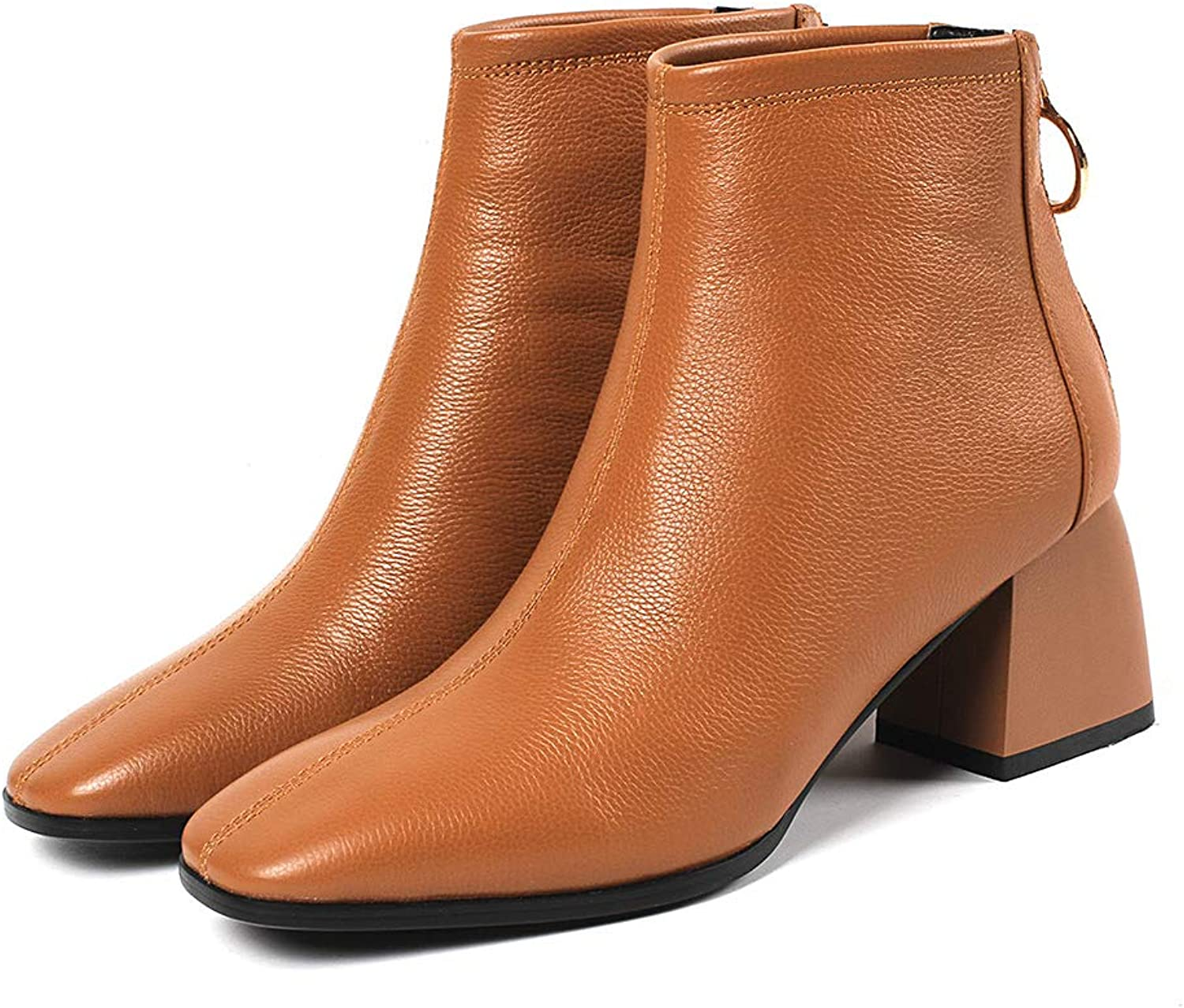 MAYPIE Womens Toafrai Leather Zipper Ankle Boots