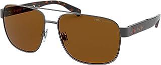 نظارات شمسية من بولو PH 3130 915783 Semishiny Dark Gun Metal