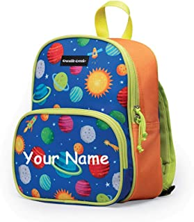 Personalized Solar System with Rocket Ships MINI Back to School Backpack Book Bag with Custom Name