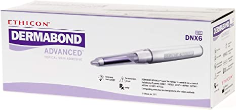 Ethicon DERMABOND ADVANCED Topical Skin Adhesive, DNX6, 0.7 mL Ampule of High-Viscosity Skin Adhesive, Medical Supplies