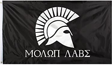 DANF Molon Labe Flag 3x5 FT Come and Take It Greek Spartan Gonzales Spartan 3 X 5 Foot Flags Banner Indoor Outdoor