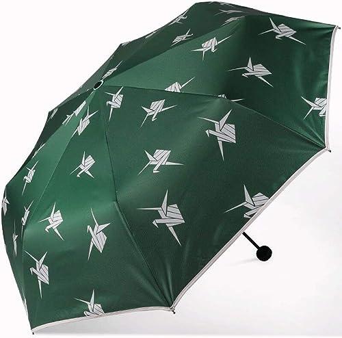 SXYCYP Dragys, parapluie pliant, écran solaire portable, parapluie solaire anti-uv, parapluie en acier à l'épreuve du vent, colle noire, colle, parapluie double usage en polyester vert.