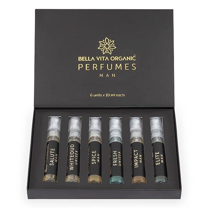 Bella Vita Organic Man Perfume Gift Set for Men 6x10