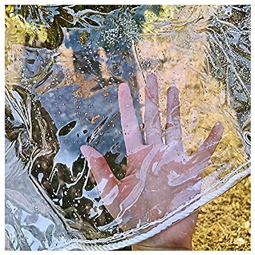 N\A LIJINBO Abdeckplane Holz,Transparente wasserdichte PVC-Hochleistungsplane Mit Tülle Wetterfeste Pflanzenabdeckungen Außenfenster Mit Durchsichtigen Fenstern, 16 Größen