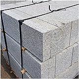 AUPROTEC Granit Bordstein Naturstein massiv 8 x 25 x 100 cm Leistenstein grau DIN EN 1343