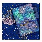 YWHY Notizbuch A6 A5 Sternenhimmel Kurze Kreative Trend Kawaii Notebook Planer Pu Leder Einzigartige Anhänger Bullet Journal Geschenk Reisenden