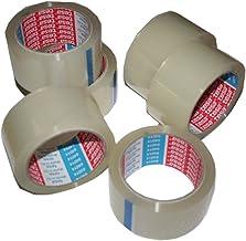 Tesa, 6 rollen plakband, verpakkingstape, verpakkingstape, 66 m, 50 mm, 3 x 6 rollen, transparant)