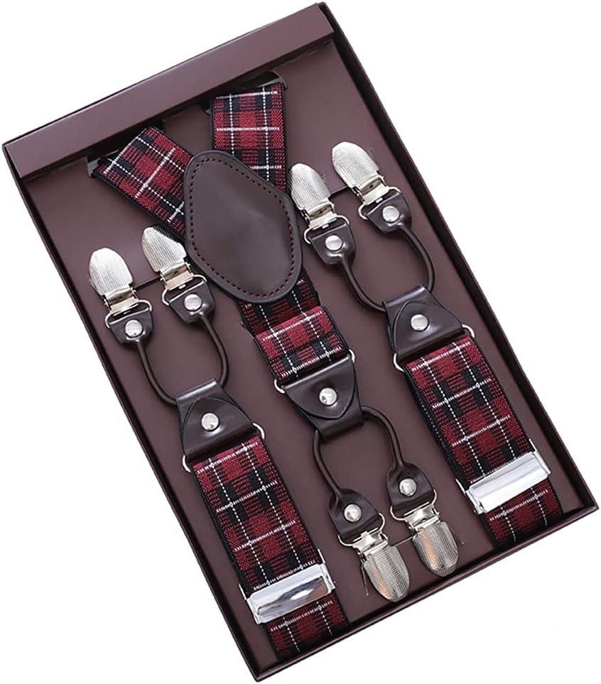 WSSBK Men's Adult Suspenders, Shirts, Suspenders, Suspenders, Men's Trousers, Suspenders, Suits (Color : E, Size