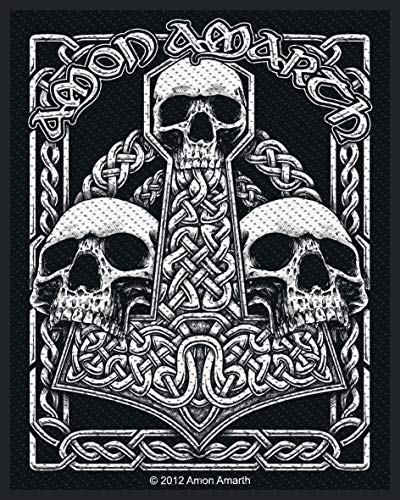 Amon Amarth Three Skulls Unisex Patch Standard