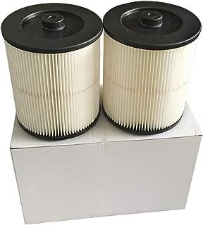 Seelong 2 Pack Filter Fit Shop Vac Craftsman 17816 9-17816 Wet Dry Vacuum Air Cartridge Filter for 5 Gallon Vacuum Cleaner
