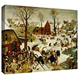 ArtWall Pieter Bruegel 「The Census at Bethlehem」ギャラリーラップキャンバスアート、60.96×81.28cm