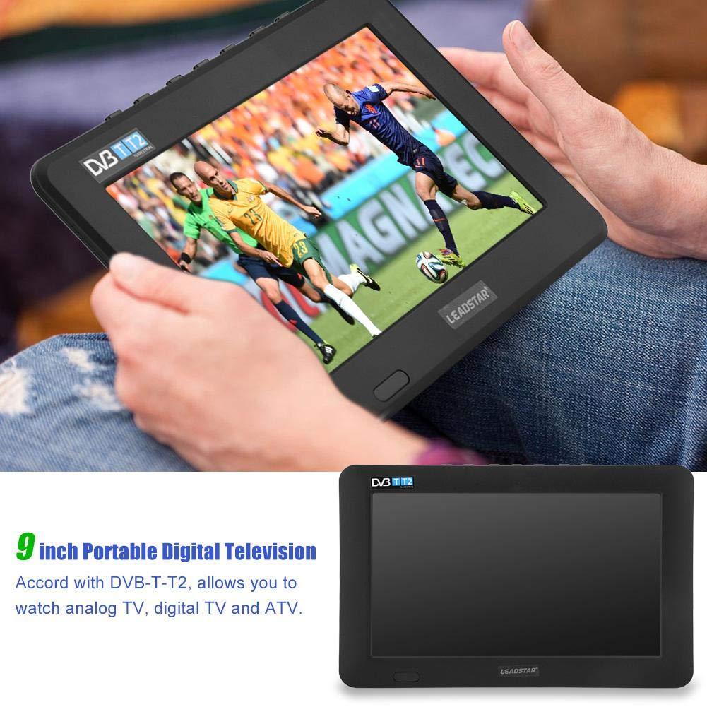 11,6 Pulgadas TV portátil, LED pequeña Televisión con TDT DVB-T/T2 Dos Altavoz TV Digital con 1500 mAh baterías Recargables y Mando a Distancia para cámara, Cocina, Caravana, Coche (9