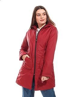 Andora Plain Side Pockets Long Sleeves Hooded Jacket for Women