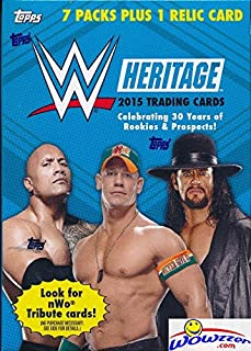 2015 Topps WWE Heritage 30th Anniversary EXCLUSIVE Factory Sealed Retail Box with TOPPS WWE RELIC Card! Look for Cards, Relics & Autographs of WWE Superstars Jon Cena,Hulk Hogan & More!