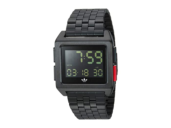 adidas  Archive_M1 (All Black/Blue/Red) Watches