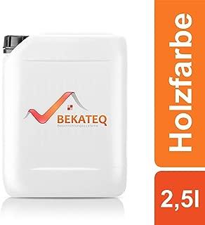Bekateq Holzschutzfarbe LS-420 seidenglänzend 2,5L, Weiss, Kunstharzlack für innen und außen, Wetterschutzfarbe für Holz
